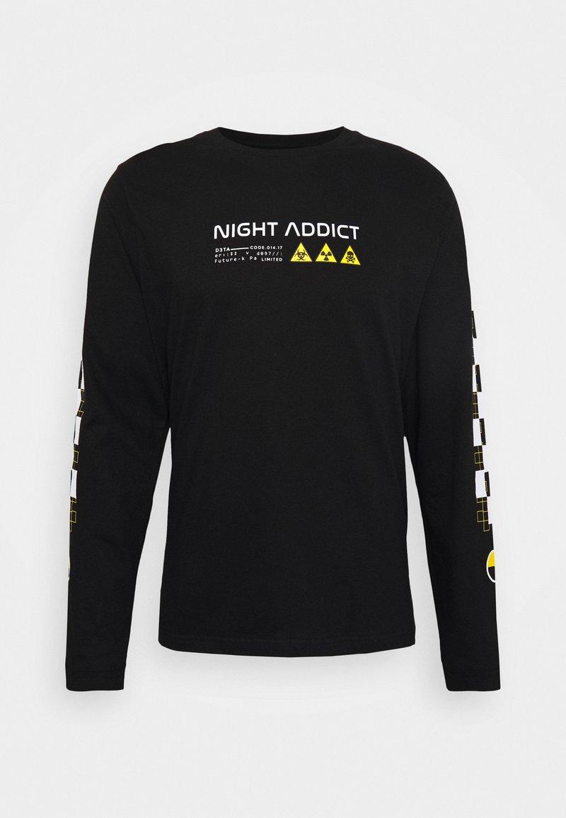 Night Addict - UNISEX RILEY - Pitkähihainen paita - black
