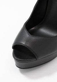 Even&Odd - LEATHER - Høye hæler med åpen front - black - 2