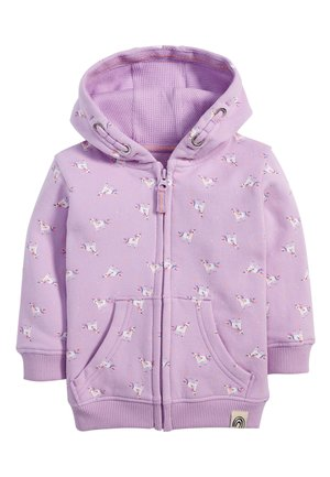 LILAC UNICORN ZIP THROUGH HOODY (3MTHS-7YRS) - Mikina na zip - purple
