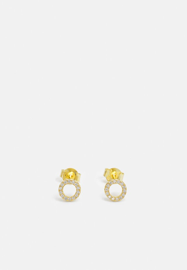 CIRCLE PAVE STUD - Korvakorut - gold-coloured