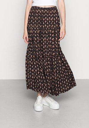 LADIES WOVEN SKIRT - Maxi skirt - comanches black