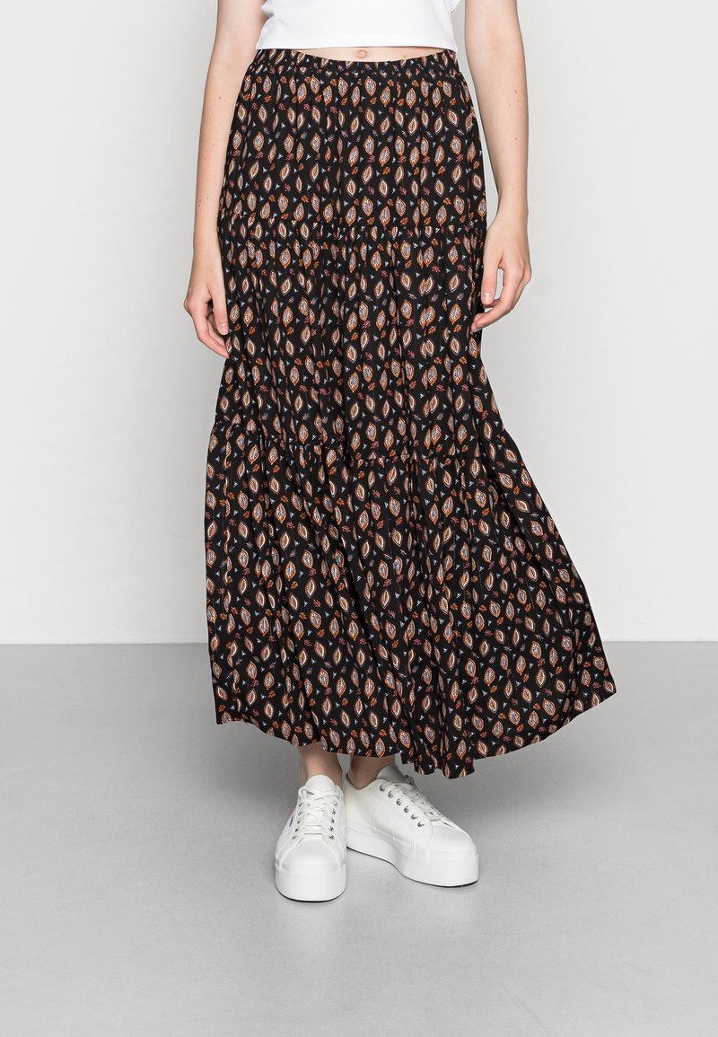 Molly Bracken - LADIES WOVEN SKIRT - Maxi skirt - comanches black