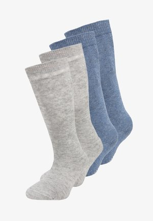 SOFT KNEE 4 PACK - Knästrumpor - denim melange