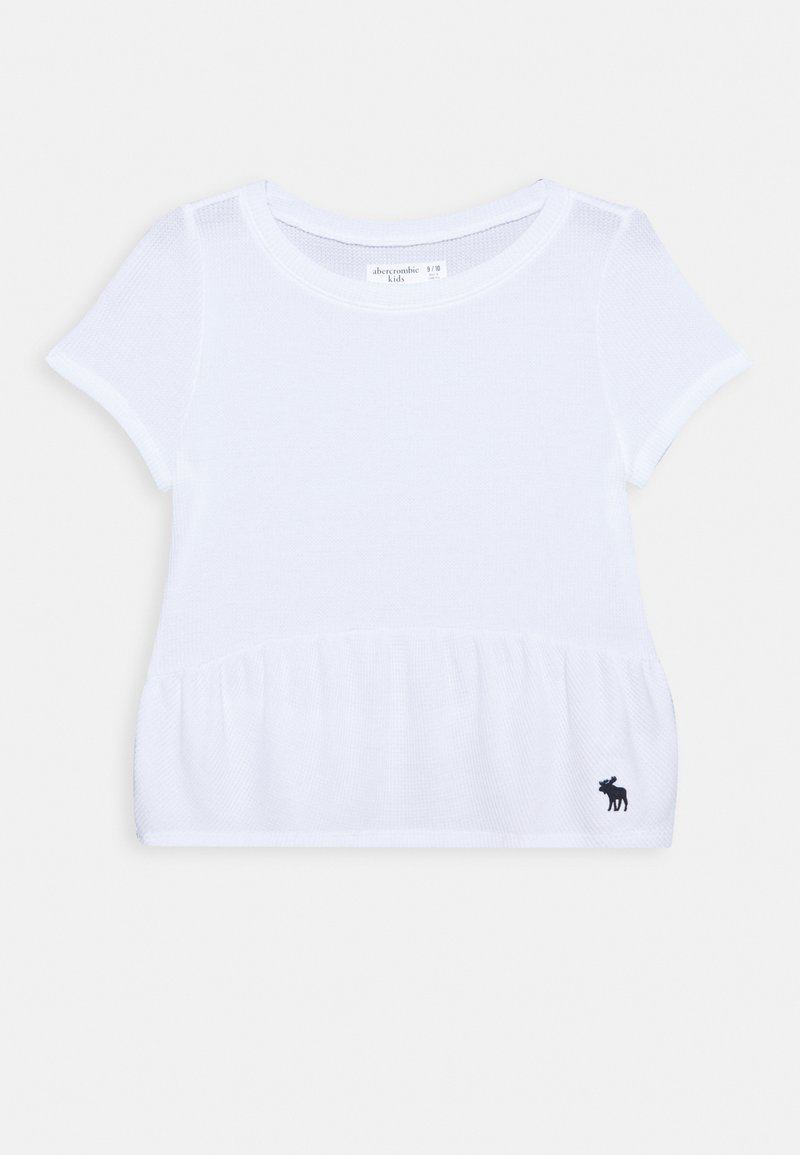 Abercrombie & Fitch - RUCHED TEE - Jednoduché triko - white