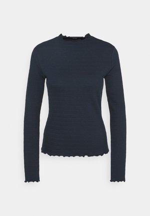 LONGSLEEVE ROUNDNECK WITH HEM RUFFLES - Long sleeved top - scandinavian blue