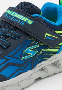 Skechers - MAGNA LIGHTS BOZLER - Trainers - navy/blue/lime - 5