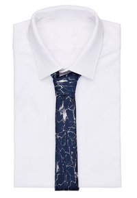 Twisted Tailor - CRACKED TIE - Krawat - navy - 1