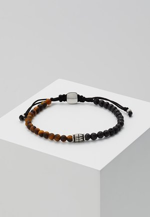 VINTAGE CASUAL - Armband - braun/schwarz