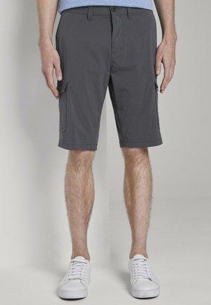 HOSEN & CHINO FUNKTIONALE JOSH REGULAR SLIM CARGO-SHORTS - Shorts - phanton dark grey