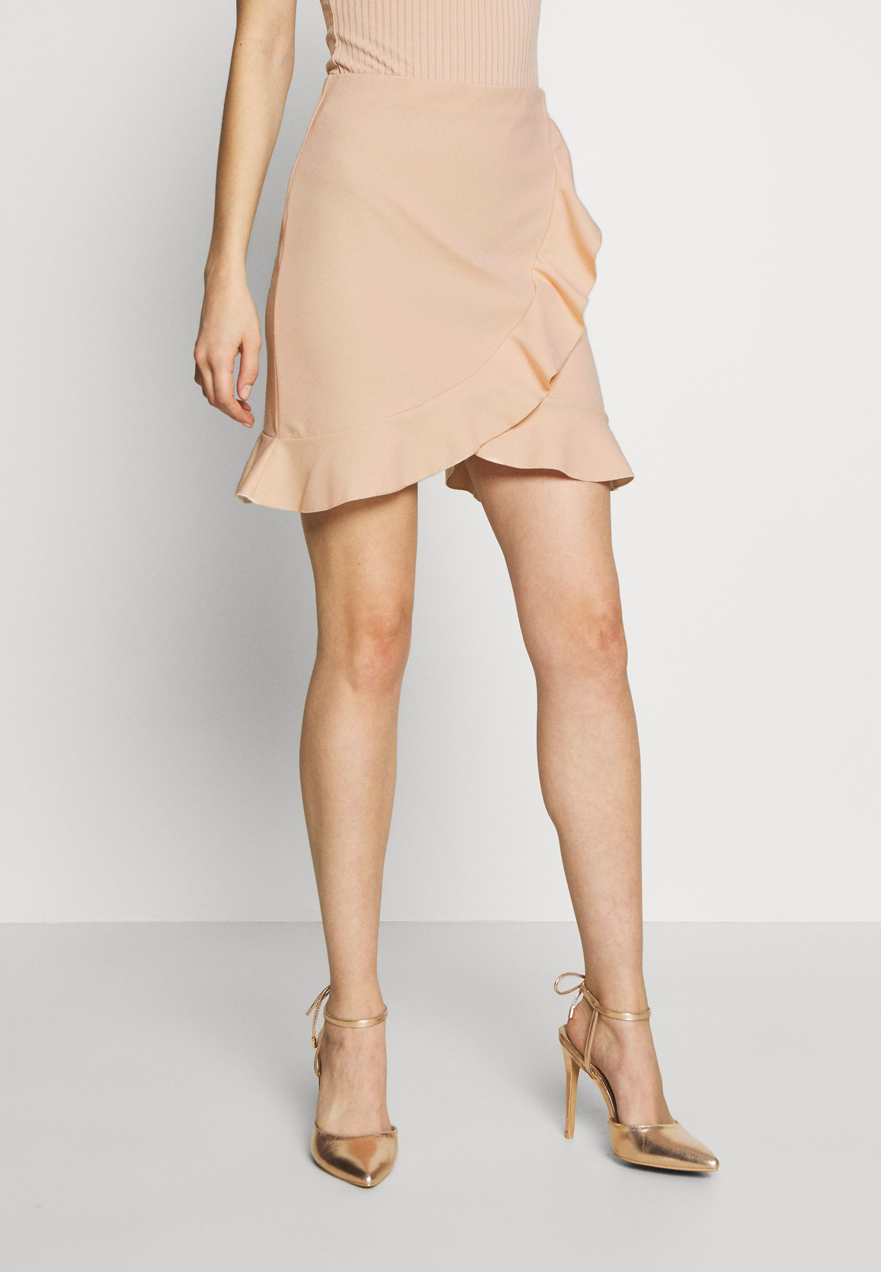 Women FRILL MINI SKIRT - Wrap skirt
