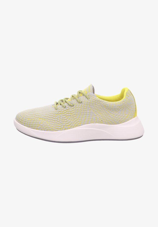 Baskets basses - grau/gelb