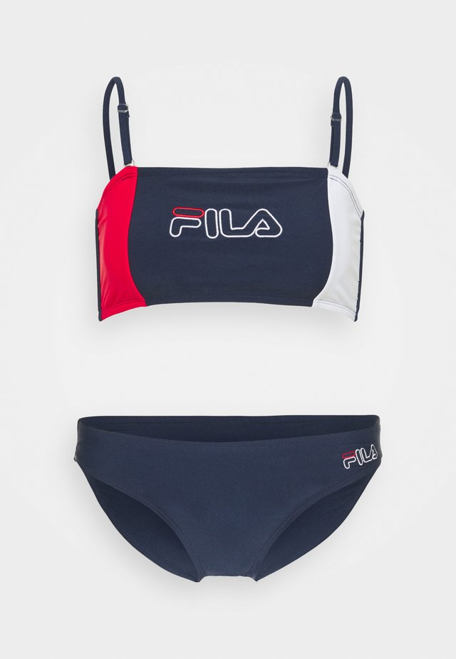 YAMUNA SET - Bikiny - black iris/bright white/true red