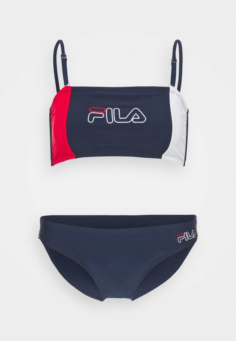 Fila - YAMUNA SET - Bikiny - black iris/bright white/true red