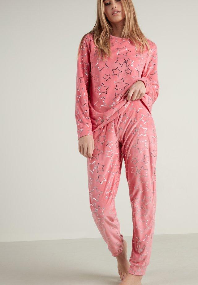 Pyjama set - rosa  pink caramel star print