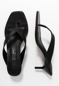 Topshop Wide Fit - WIDE FIT NINA MULE - T-bar sandals - black - 3