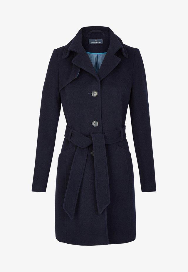MIT BINDEGüRTEL - Short coat - dunkelblau