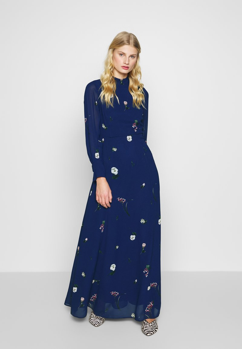 IVY & OAK - PRINTED DRESS - Vestito lungo - indigo