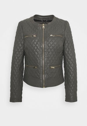 IRINA - Leather jacket - light grey