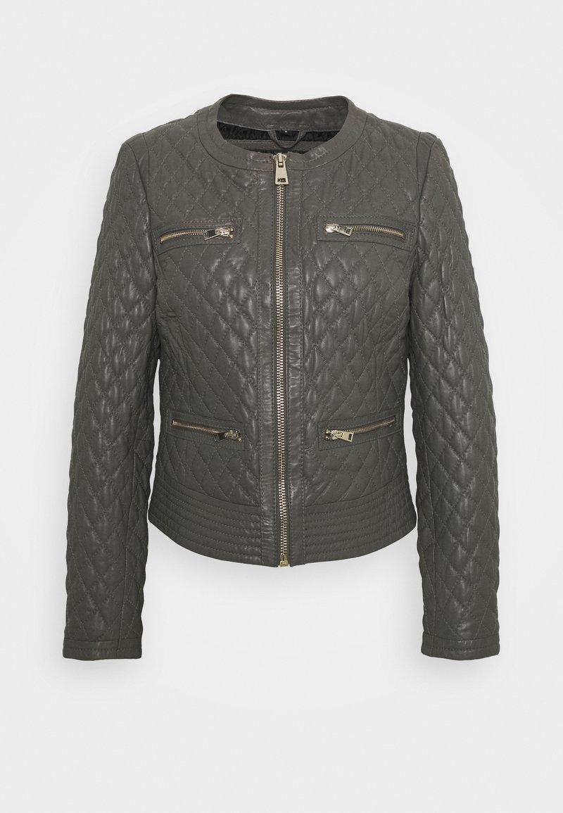 Oakwood - IRINA - Leather jacket - light grey