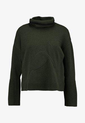 TURTLE NECK - Strickpullover - khaki