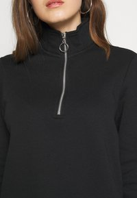 Even&Odd - HIGH NECK HALF ZIP SWEATSHIRT - Sweatshirt - black - 5