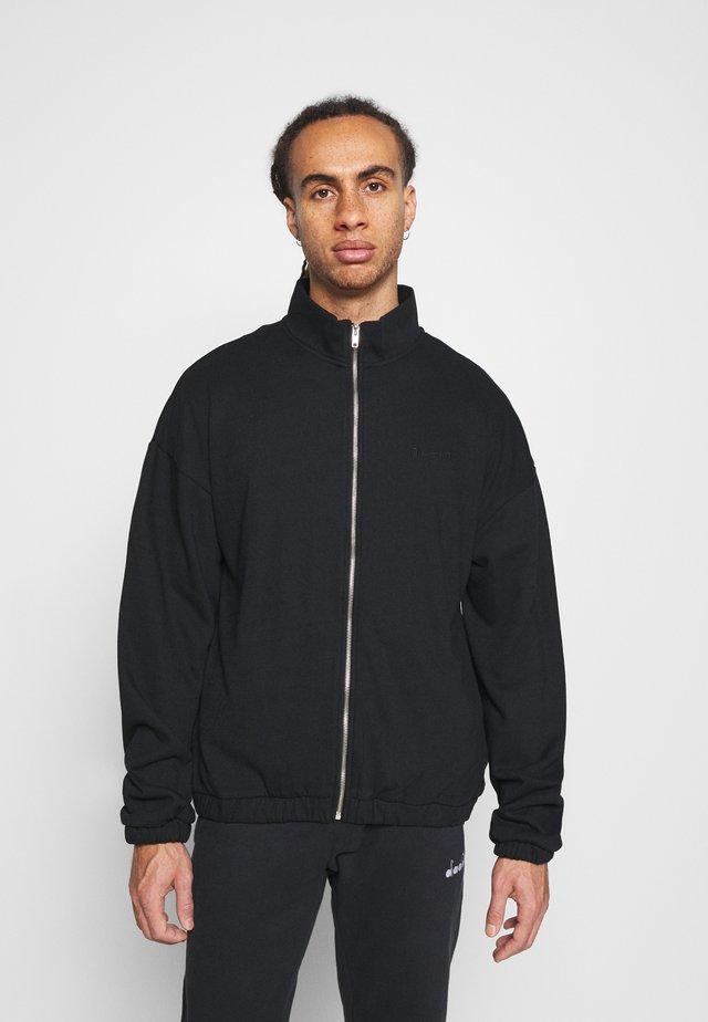 ZIP UP TRACK - Zip-up hoodie - black