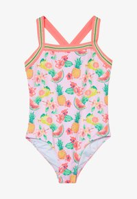 Sunuva - GIRLS ALOHA FRUIT GLITTER TRIM SWIMSUIT - Kostium kąpielowy - sunuva pink - 2