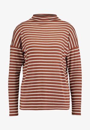 KALIDDY HIGH NECK - T-shirt à manches longues - tortoise shell/chalk