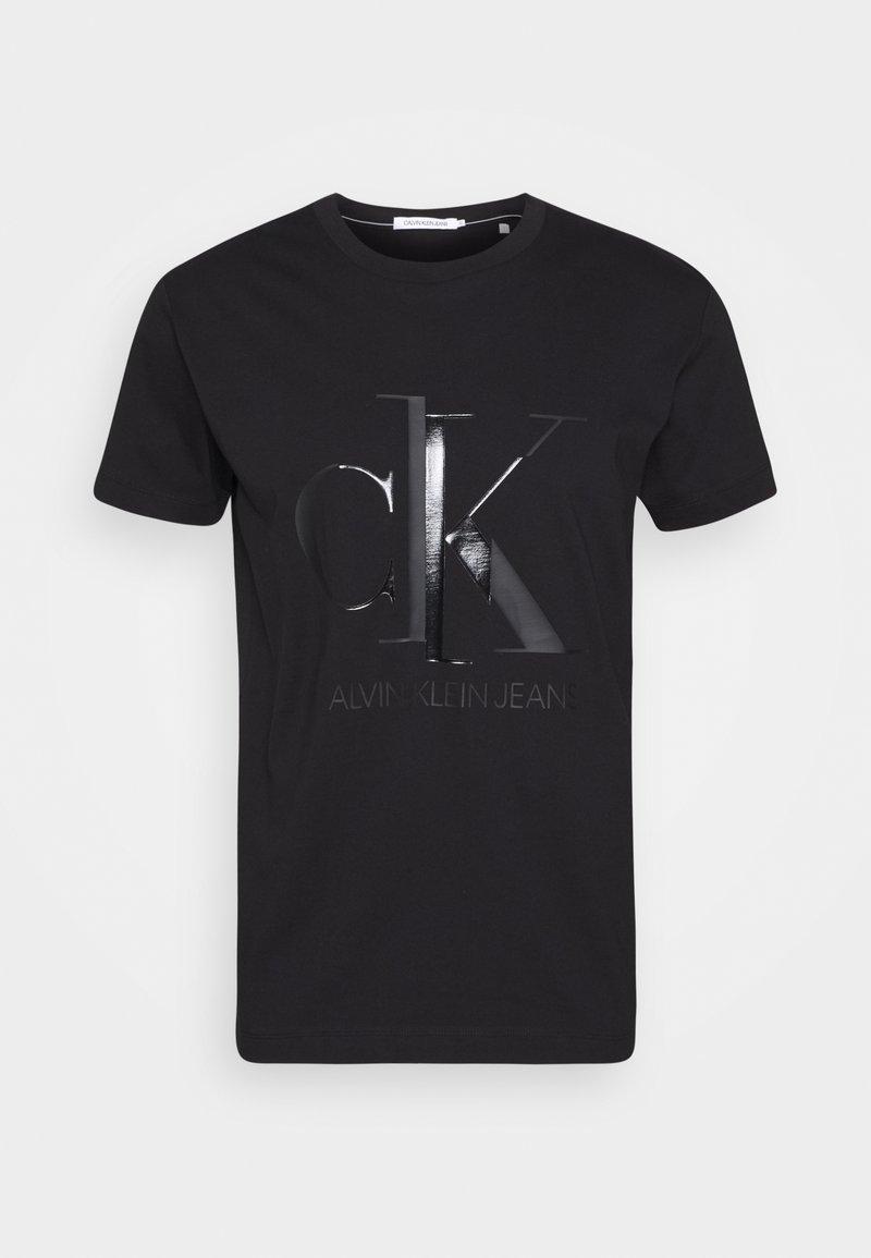 Calvin Klein Jeans - SHINY MONOGRAM TEE - Print T-shirt - black