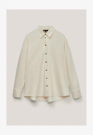 MIT PUFFÄRMELN - Button-down blouse - beige