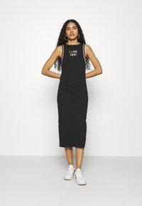 Calvin Klein - PRIDE DRESS - Jerseyjurk - black - 0