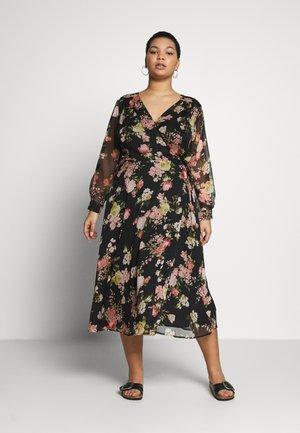 BEAUTIFUL BLOOMS YORYU WRAP DRESS - Denní šaty - black