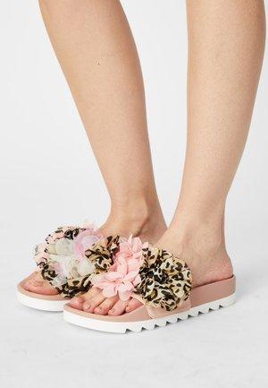 SLIDE MULTI FLOWERS - Mules - pink