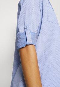 Opus - FALENTA DOBBY - Button-down blouse - blue mood - 5