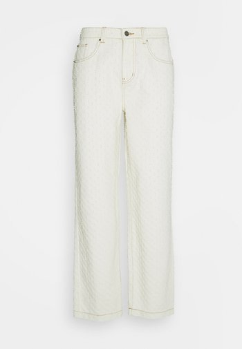 EXTREME PULLED SKATE  - Relaxed fit jeans - ecru