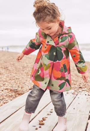 SHOWER RESISTANT FLORAL PRINT - Short coat - pink