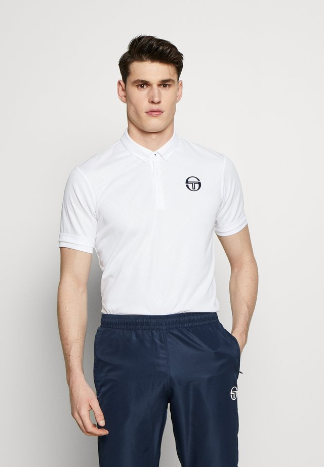 CHEVRON - Koszulka sportowa - white/navy