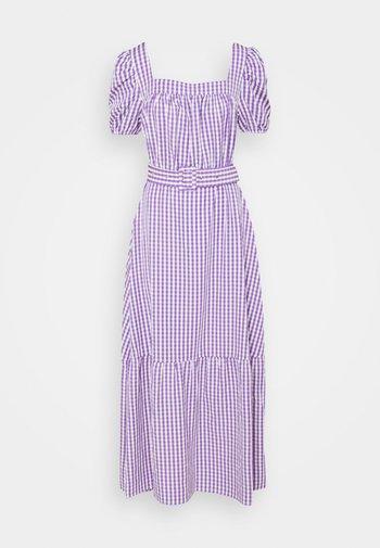 VIGRIMDA MAXI BELT DRESS - Vestito estivo - violet tulip/white