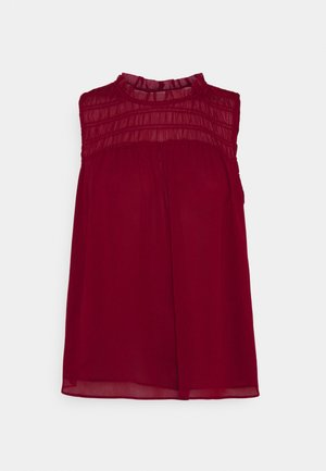 SMOCKED RUFFLE SOLID - Topper - mulled cranberry