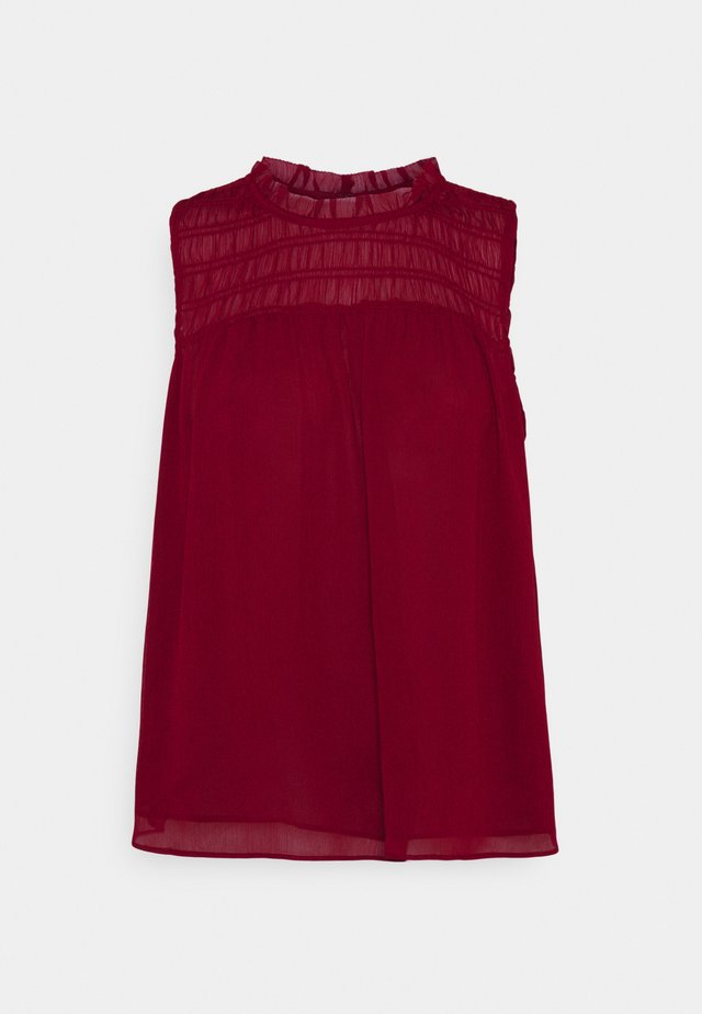 SMOCKED RUFFLE SOLID - Toppe - mulled cranberry