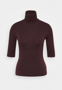 Filippa K - ELBOW SLEEVE - Basic T-shirt - maroon - 0
