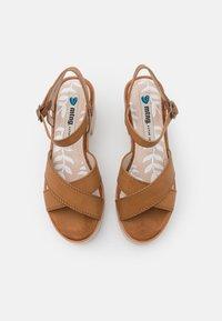 mtng - EMELINE - Platform sandals - marron - 5