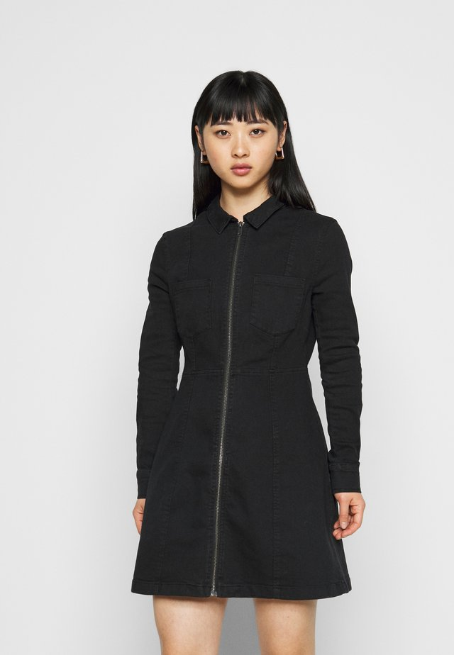 NMLISA ZIP DRESS  - Dongerikjole - black denim