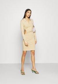NA-KD - Shift dress - beige - 1