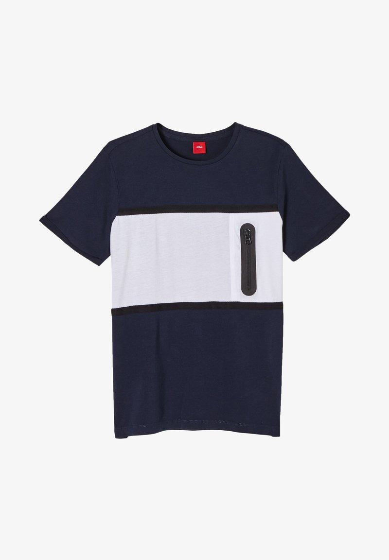 s.Oliver - Print T-shirt - dark blue