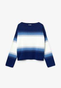 Lacoste - LACOSTE - DAMEN PULLI-AF6462 - Sweter - navy blau / blau / weiß - 4