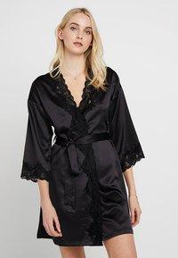 Lauren Ralph Lauren - KIMONO ROBE - Dressing gown - black - 0