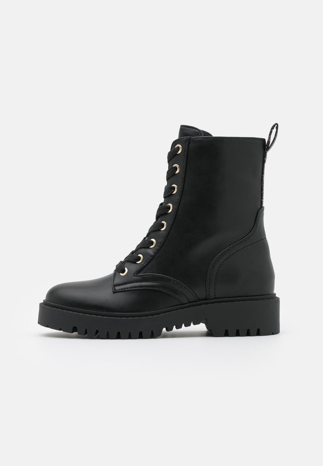 OLINIA - Bottines à lacets - black