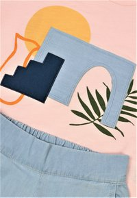 Cigit - SET - Relaxed fit jeans - light pink - 2