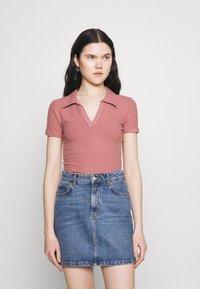 Trendyol - Basic T-shirt - rose - 0